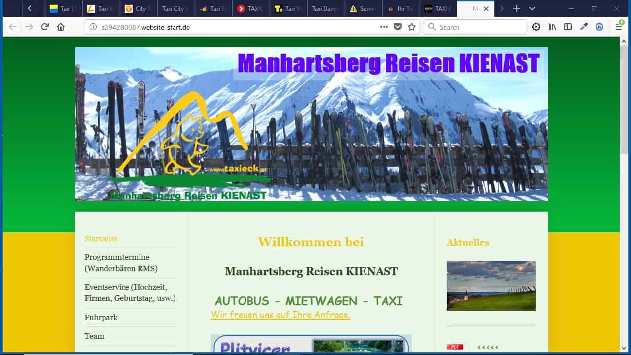 Taxieck – Manhartsberg Reisen KIENAST