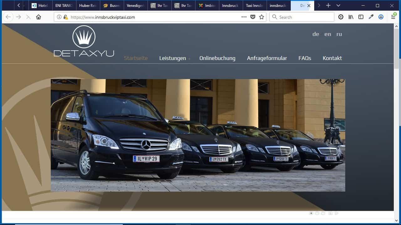 Detaxyu Taxiunternehmen Tirol