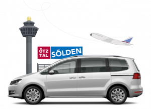 airport transfer soelden car logo tower