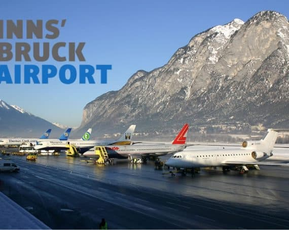 Innsbruck Airport with logo
