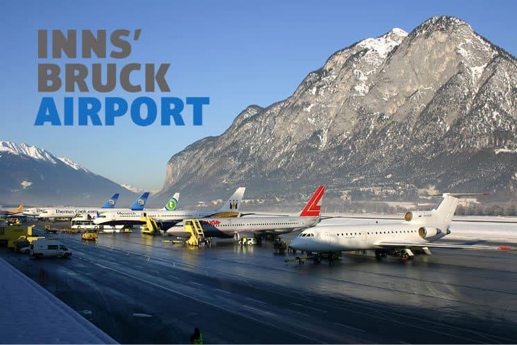 Innsbruck Airport with logo
