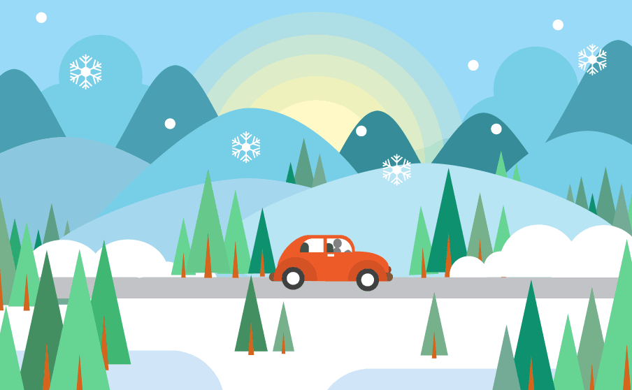 winter taxi transfer